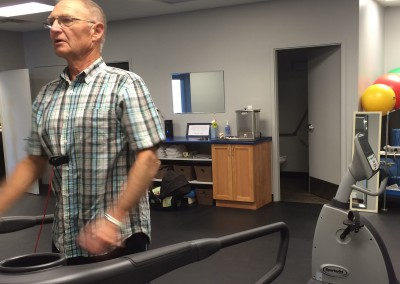 Treadmill in the clinic gym.
